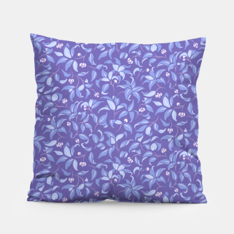 Miniatur The wall of orange buds and blossoms in lavender Pillow, Live Heroes