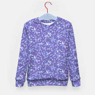 Miniatur The wall of orange buds and blossoms in lavender Kid's sweater, Live Heroes