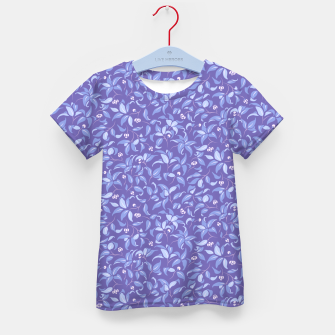 Miniatur The wall of orange buds and blossoms in lavender Kid's t-shirt, Live Heroes