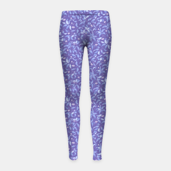 Miniatur The wall of orange buds and blossoms in lavender Girl's leggings, Live Heroes