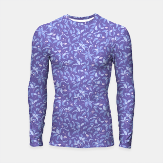 Miniatur The wall of orange buds and blossoms in lavender Longsleeve rashguard , Live Heroes