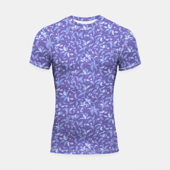 Miniatur The wall of orange buds and blossoms in lavender Shortsleeve rashguard, Live Heroes