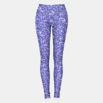 Miniatur The wall of orange buds and blossoms in lavender Leggings, Live Heroes