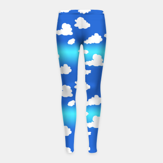 Thumbnail image of Clouds Girl's leggings, Live Heroes