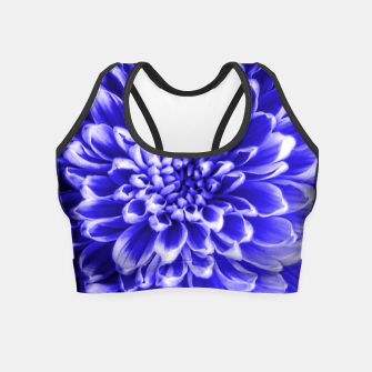 Thumbnail image of Blue Chrysanthemum Crop Top, Live Heroes