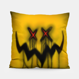 "Thumbnail image of Crossaiz ""Black Streaks"" Pillow, Live Heroes"