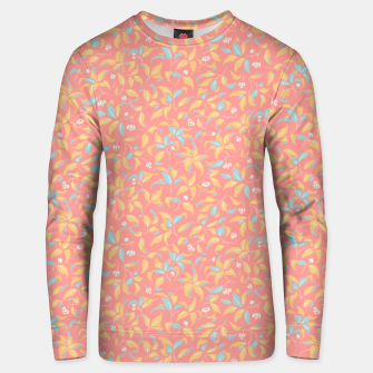 Thumbnail image of The wall of orange buds and blossoms in pink Unisex sweater, Live Heroes