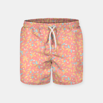 Thumbnail image of The wall of orange buds and blossoms in pink Swim Shorts, Live Heroes