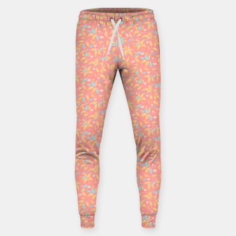 Thumbnail image of The wall of orange buds and blossoms in pink Sweatpants, Live Heroes