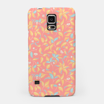 Thumbnail image of The wall of orange buds and blossoms in pink Samsung Case, Live Heroes