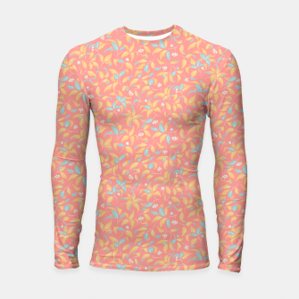 Thumbnail image of The wall of orange buds and blossoms in pink Longsleeve rashguard , Live Heroes