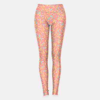 Thumbnail image of The wall of orange buds and blossoms in pink Leggings, Live Heroes