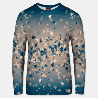 Thumbnail image of Star explosion, abstract outer space illustration in classic ink blue and coral pink Unisex sweater, Live Heroes