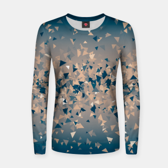 Thumbnail image of Star explosion, abstract outer space illustration in classic ink blue and coral pink Women sweater, Live Heroes