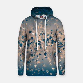 Thumbnail image of Star explosion, abstract outer space illustration in classic ink blue and coral pink Hoodie, Live Heroes