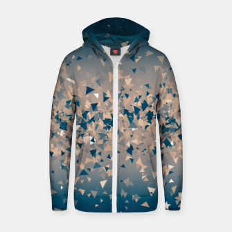 Thumbnail image of Star explosion, abstract outer space illustration in classic ink blue and coral pink Zip up hoodie, Live Heroes