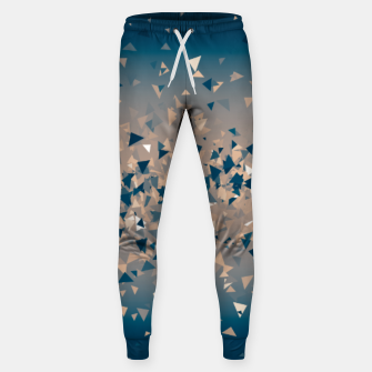 Thumbnail image of Star explosion, abstract outer space illustration in classic ink blue and coral pink Sweatpants, Live Heroes