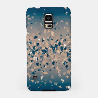 Thumbnail image of Star explosion, abstract outer space illustration in classic ink blue and coral pink Samsung Case, Live Heroes