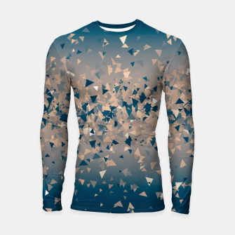 Thumbnail image of Star explosion, abstract outer space illustration in classic ink blue and coral pink Longsleeve rashguard , Live Heroes