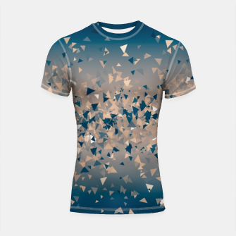 Thumbnail image of Star explosion, abstract outer space illustration in classic ink blue and coral pink Shortsleeve rashguard, Live Heroes