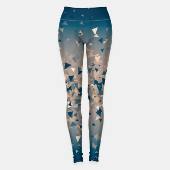 Thumbnail image of Star explosion, abstract outer space illustration in classic ink blue and coral pink Leggings, Live Heroes