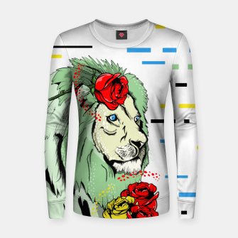 Thumbnail image of Green lion Women sweater, Live Heroes