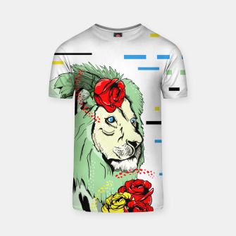 Thumbnail image of Green lion T-shirt, Live Heroes