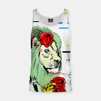 Thumbnail image of Green lion Tank Top, Live Heroes