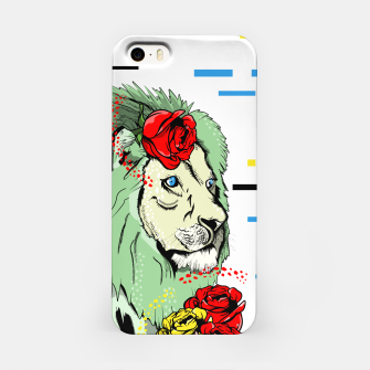 Miniatur Green lion iPhone Case, Live Heroes