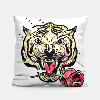 Miniatur Geometric Tiger Pillow, Live Heroes