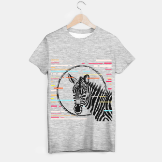 Thumbnail image of Zebra Geometric T-shirt regular, Live Heroes
