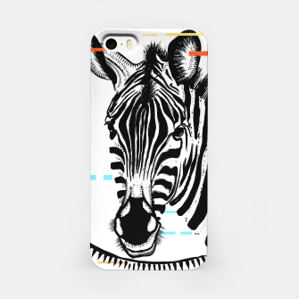 Miniatur Zebra Geometric iPhone Case, Live Heroes