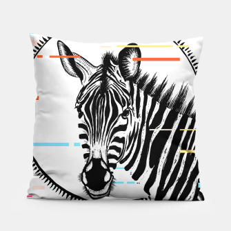 Thumbnail image of Zebra Geometric Pillow, Live Heroes