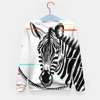 Thumbnail image of Zebra Geometric Kid's sweater, Live Heroes