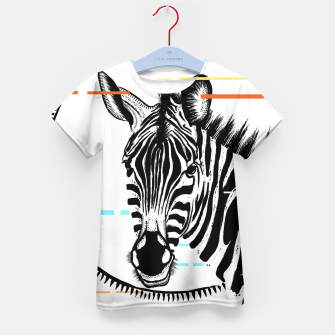Thumbnail image of Zebra Geometric Kid's t-shirt, Live Heroes