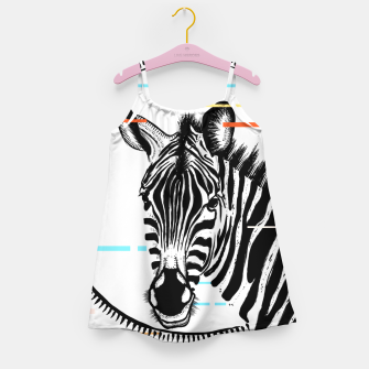 Miniatur Zebra Geometric Girl's dress, Live Heroes