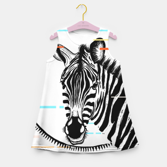 Miniatur Zebra Geometric Girl's summer dress, Live Heroes