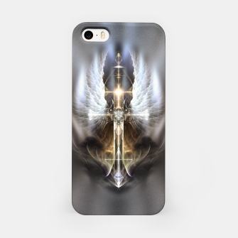 Miniaturka Heavenly Angel Wing Cross Vintage Satin Fractal Art Composition iPhone Case, Live Heroes