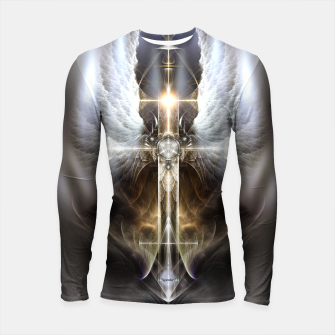 Miniaturka Heavenly Angel Wing Cross Vintage Satin Fractal Art Composition Longsleeve rashguard , Live Heroes