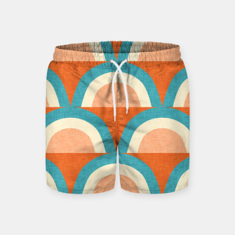 Thumbnail image of New Mid Mod Rainbow Magic Blue Swim Shorts, Live Heroes