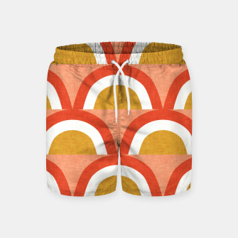 Thumbnail image of New Mid Mod Rainbow Magic Red Swim Shorts, Live Heroes