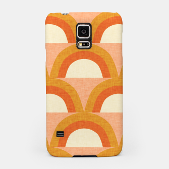 Thumbnail image of New Mid Mod Rainbow Magic Orange Samsung Case, Live Heroes