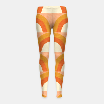 Thumbnail image of New Mid Mod Rainbow Magic Orange Girl's leggings, Live Heroes