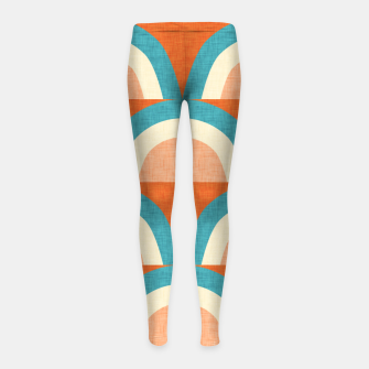 Thumbnail image of New Mid Mod Rainbow Magic Blue Girl's leggings, Live Heroes