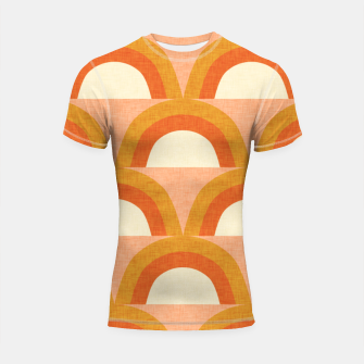 Thumbnail image of New Mid Mod Rainbow Magic Orange Shortsleeve rashguard, Live Heroes