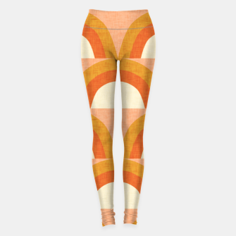 Thumbnail image of New Mid Mod Rainbow Magic Orange Leggings, Live Heroes