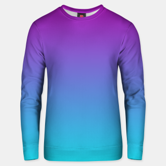 Thumbnail image of Purple Blue Turquoise Gradient Unisex sweater, Live Heroes