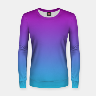 Thumbnail image of Purple Blue Turquoise Gradient Women sweater, Live Heroes