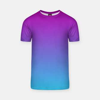 Thumbnail image of Purple Blue Turquoise Gradient T-shirt, Live Heroes