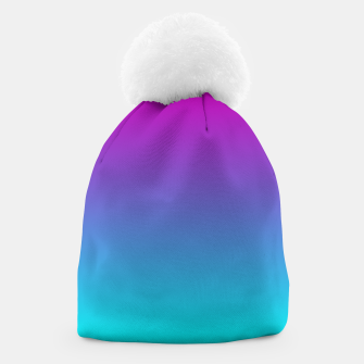 Thumbnail image of Purple Blue Turquoise Gradient Beanie, Live Heroes